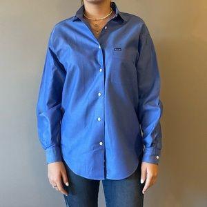 Blue Faconnable button down shirt